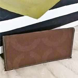 **clearance** COACH brown bifold wallet